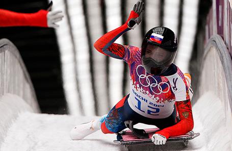 Елена Никитина на Олимпийских играх в Сочи.