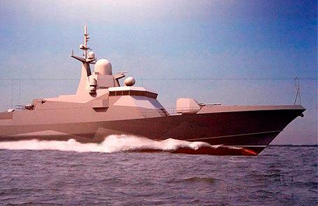 Эскиз проекта малого ракетного корабля проекта 22800.