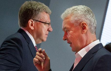 Заместитель председателя Экономического совета при президенте РФ Алексей Кудрин и мэр Москвы Сергей Собянин (слева направо).