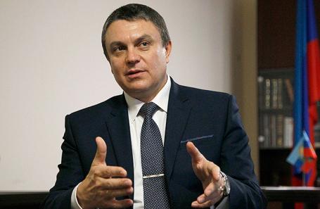 Исполняющий обязанности главы Луганской Народной Республики Леонид Пасечник.