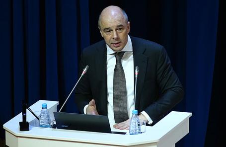 Министр финансов РФ Антон Силуанов во время пленарного заседания IV Международного форума Финансового университета.