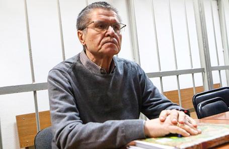 Экс-министр экономического развития Алексей Улюкаев в Замоскворецком суде во время слушаний по его делу.