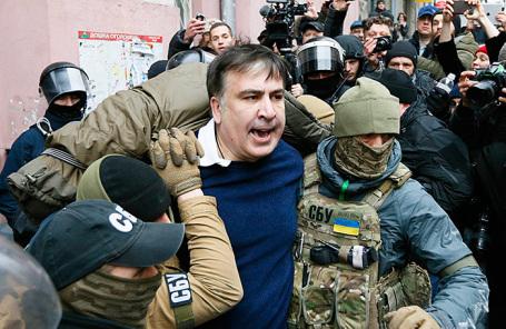 Реакция вГрузии: Саакашвили схвачен вКиеве