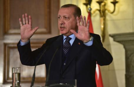 Реджеп Эрдоган в Афинах. 7 декабря 2017 года.