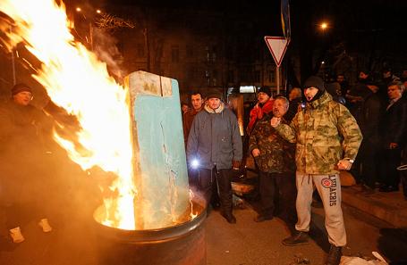Акция протеста в Киеве, 9 декабря 2017.