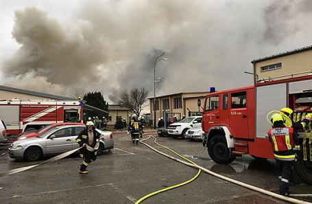 Взрыв газопровода в Баумгартене, Австрия, 12 декабря 2017.