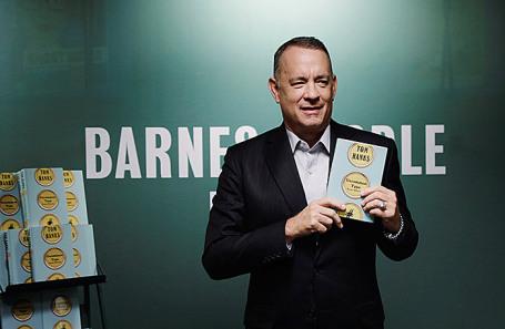 Том Хэнкс на презентации своей книги «Уникальный экземпляр. Истории о том о сем» в Нью-Йорке.