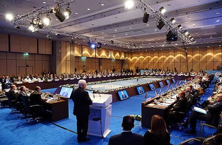 Саммит Организации исламского сотрудничества в Стамбуле, Турция.