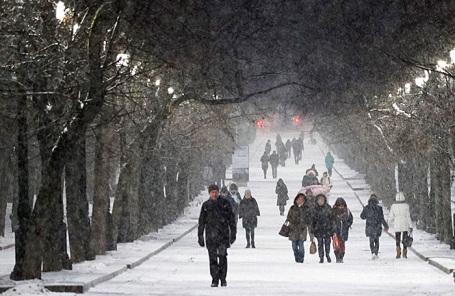 Зимняя погода сметелями придет вМосковский регион ввыходные