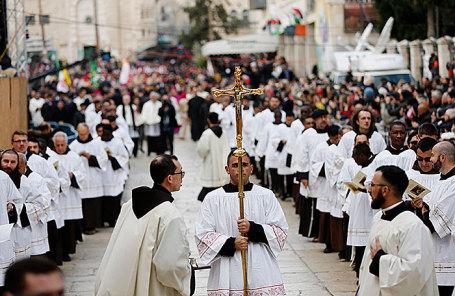 Праздничные мероприятия по случаю Рождества в Вифлееме.