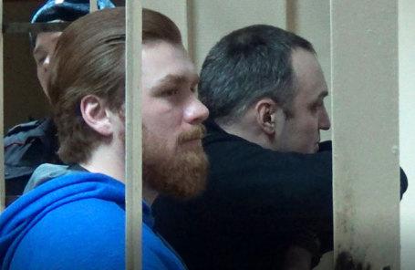 Подсудимые Ильдар Шакиров и Денис Ромашкин во время оглашения приговора в Пресненском суде Москвы.