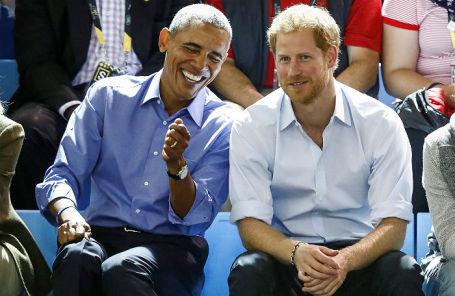 Принц Гарри и Барак Обама.