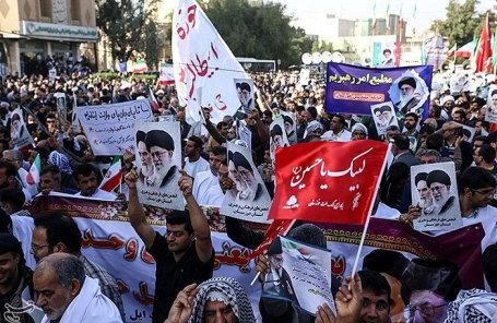 Протесты в Тегеране, Иран.