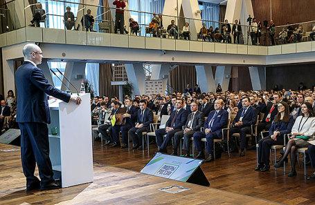 Открытие первого полуфинала Всероссийского конкурса «Лидеры России» по ЦФО в Москве, 10 января 2018.