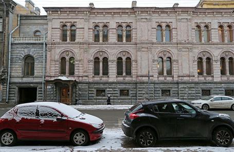 Здание Европейского университета на Гагаринской улице в Санкт-Петербурге.