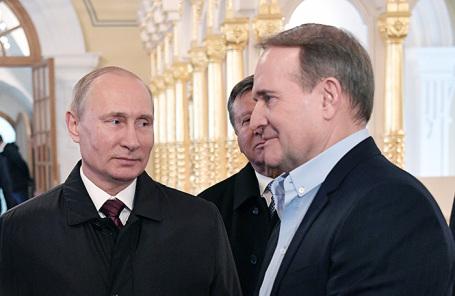 Президент РФ Владимир Путин и лидер движения «Украинский выбор» Виктор Медведчук.
