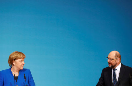 Ангела Меркель и Мартин Шульц.