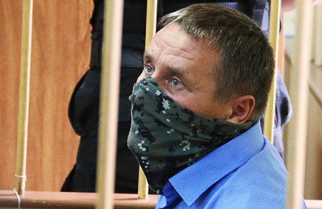 Заместитель начальника управления собственной безопасности Следственного комитета России Александр Ламонов, задержанный по подозрению в превышении должностных полномочий и получении взяток от представителей криминального сообщества.