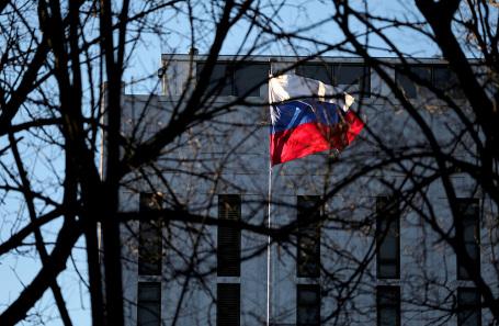 Здание посольства РФ в Вашингтоне.