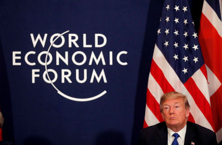 Президент США Дональд Трамп на Всемирном экономическом форуме в Давосе.