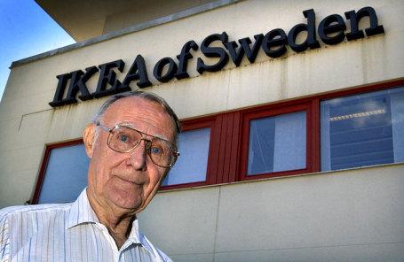 Основатель ИКЕА Ингвар Кампрад.