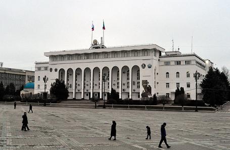 Здание администрации главы Республики Дагестан, правительства Республики Дагестан и Народного собрания Республики Дагестан.