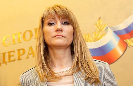 Первый зампред комитета ГД по международным делам, олимпийская чемпионка Светлана Журова.