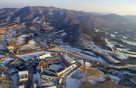 Стадион PyeongChang Olympic Stadium в Пхенчхане.