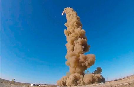 Пуск новой противоракеты ПРС-1М в Сары-Шагане.