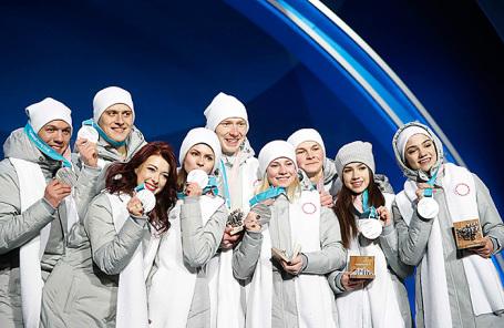 Серебряные призеры, команда олимпийских спортсменов из России.