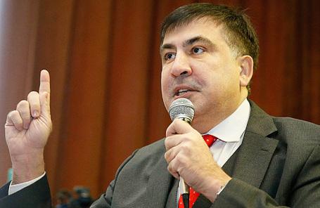 Бывший губернатор Одесской области Михаил Саакашвили.