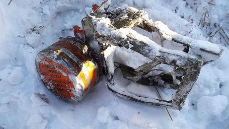 Бортовой аварийный самописец, найденный на месте крушения самолета Ан-148 в Подмосковье.