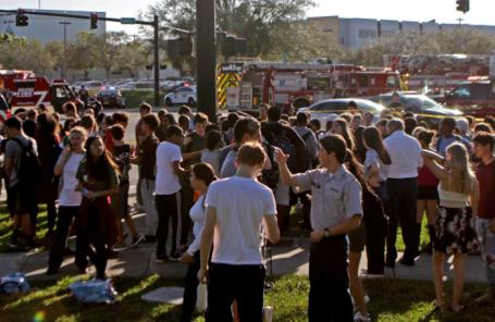 После стрельбы в американской школе.