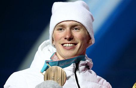 Олимпийский спортсмен из России Денис Спицов, завоевавший бронзовую медаль.