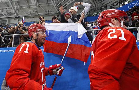 Члены сборной России по хоккею.