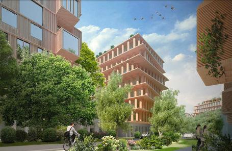 Проект современного деревянного эко-квартала для Москвы Сокольского деревообрабатывающего комбината.