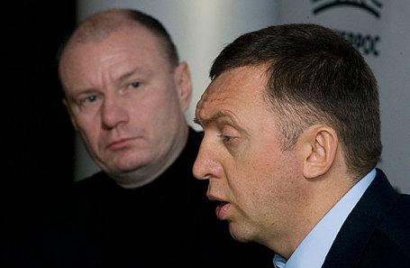 Владимир Потанин и Олег Дерипаска (слева направо).