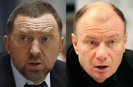 Олег Дерипаска и Владимир Потанин (слева направо).