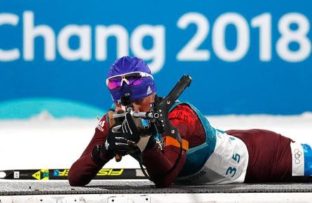 Антон Бабиков на Олимпиаде в Пхенчхане.