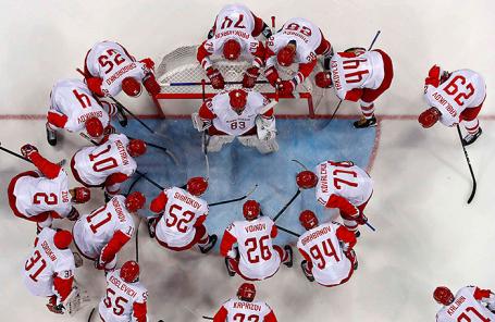 Сборная России по хоккею на Олимпиаде в Пхенчхане.