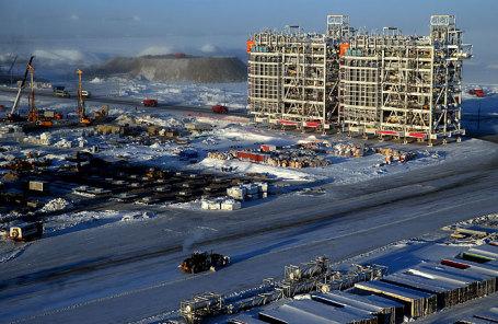 Завод по производству сжиженного природного газа «Ямал СПГ» в ЯНАО.