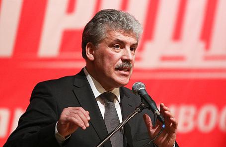 Кандидат на пост президента РФ от КПРФ Павел Грудинин.