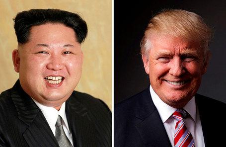 Лидер Северной Кореии Ким Чен Ын и президент США Дональд Трамп.