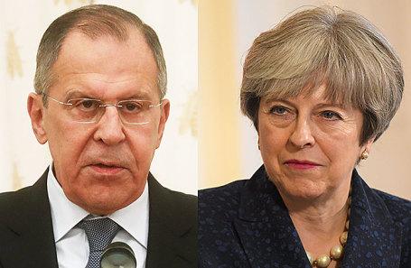 Сергей Лавров и Тереза Мэй.