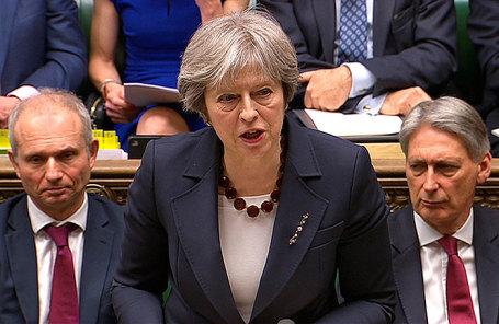 Тереза Мэй во время выступления на заседании парламента, 14 марта 2018.