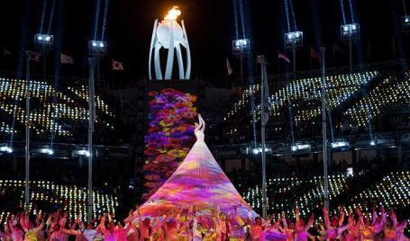 На церемонии закрытия Паралимпийских игр в Пхенчхане.