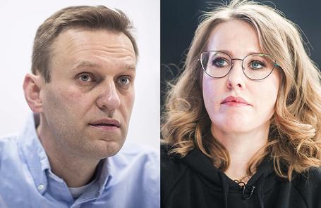 Алексей Навальный и Ксения Собчак.