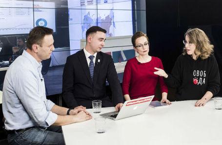 Дебаты Алексея Навального и Ксении Собчак на YouTube-канале «Навальный Live», 18 марта 2018 года.