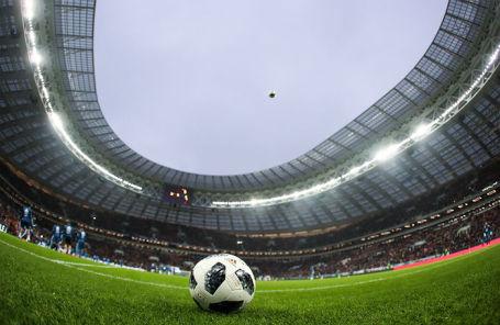 На стадионе «Лужники».