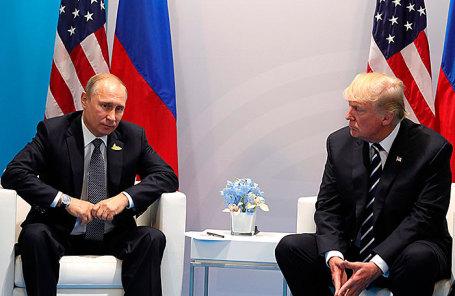 Президент России Владимир Путин и президент США Дональд Трамп.